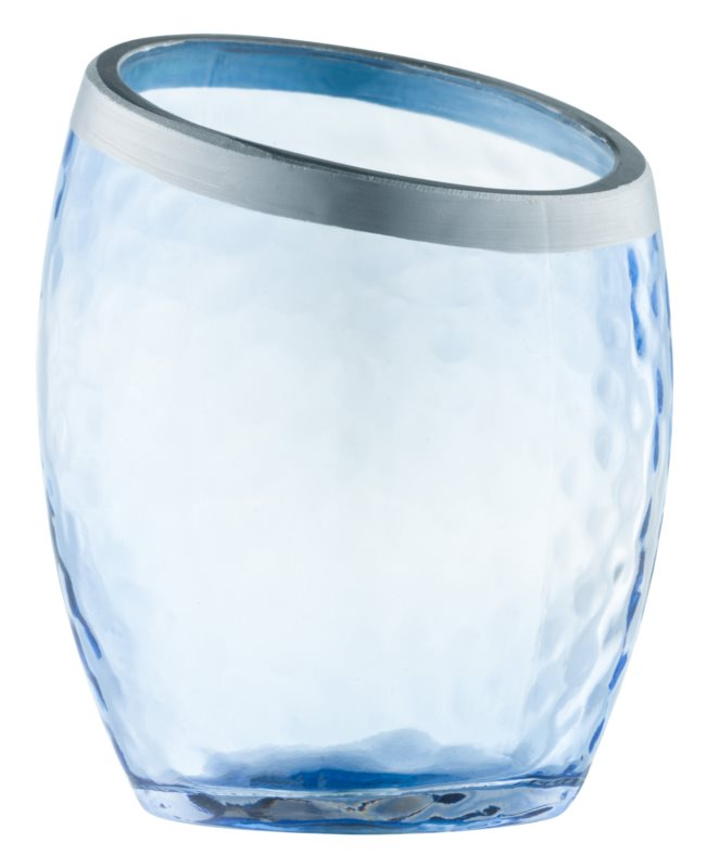 Yankee Candle Pearlescent Crackle sklenený svietnik na votívnu sviečku    Blue