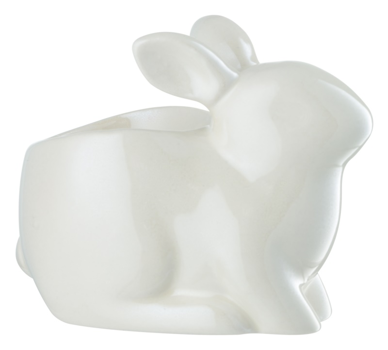 Yankee Candle Pearlescent White Bunny Ceramic Tea Light Holder