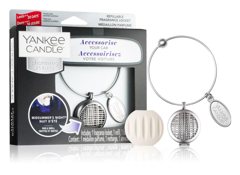 Yankee Candle Midsummer´s Night Car Air Freshener   Pendant + One Refill (Geometric)