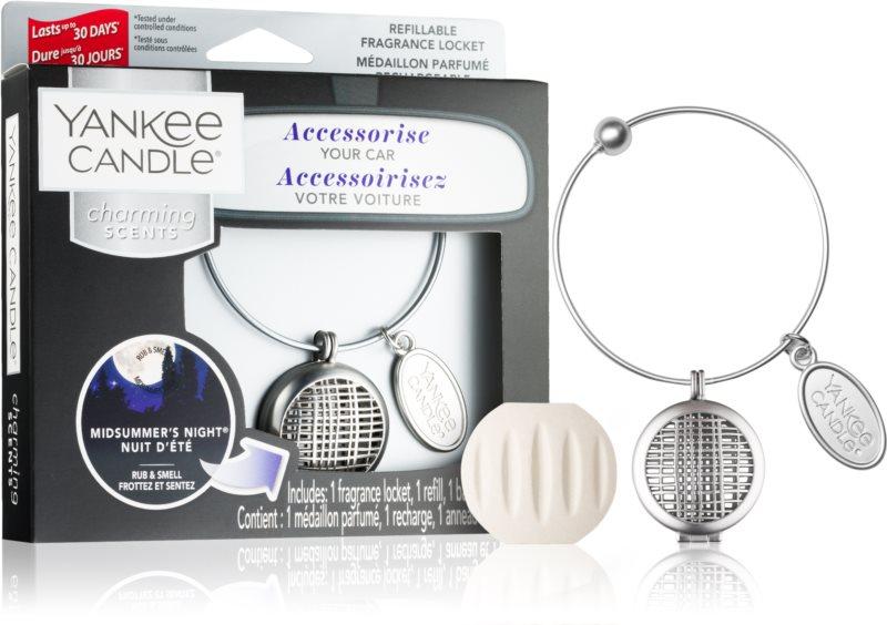Yankee Candle Midsummer´s Night vôňa do auta   prívesok + náhradná náplň (Geometric)
