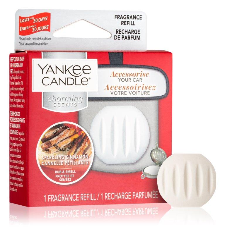 Yankee Candle Sparkling Cinnamon vôňa do auta   náhradná náplň