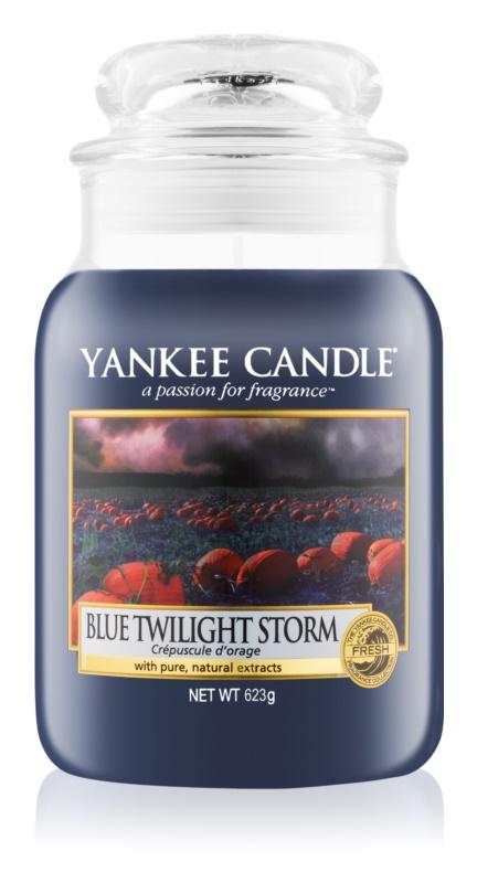 Yankee Candle Blue Twilight Storm lumânare parfumată  623 g Clasic mare