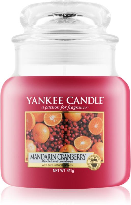 Yankee Candle Mandarin Cranberry vela perfumado 411 g Classic médio