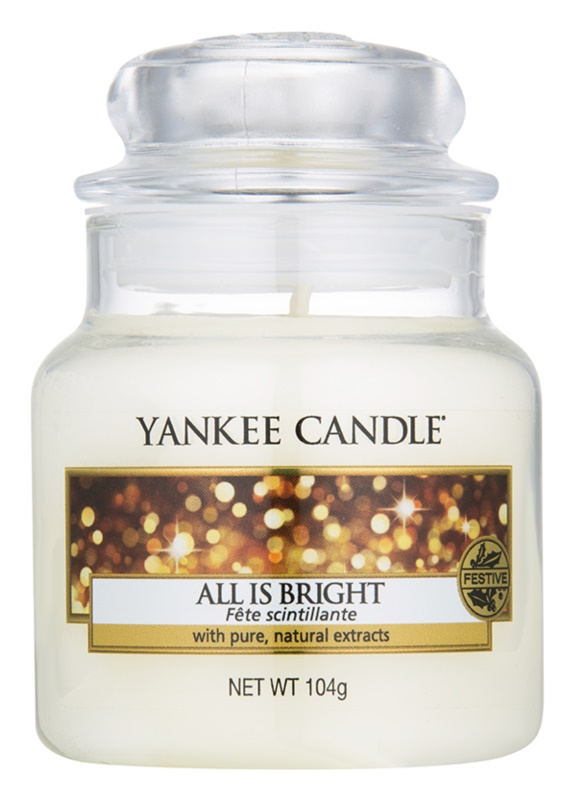 Yankee Candle All is Bright dišeča sveča  105 g Classic majhna