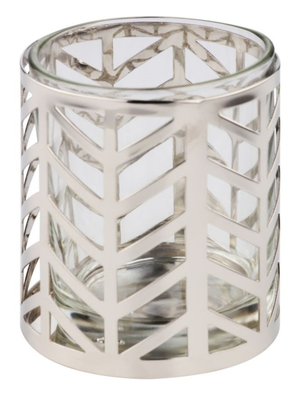 Yankee Candle Arrow Chrome Glass Votive Candle Holder