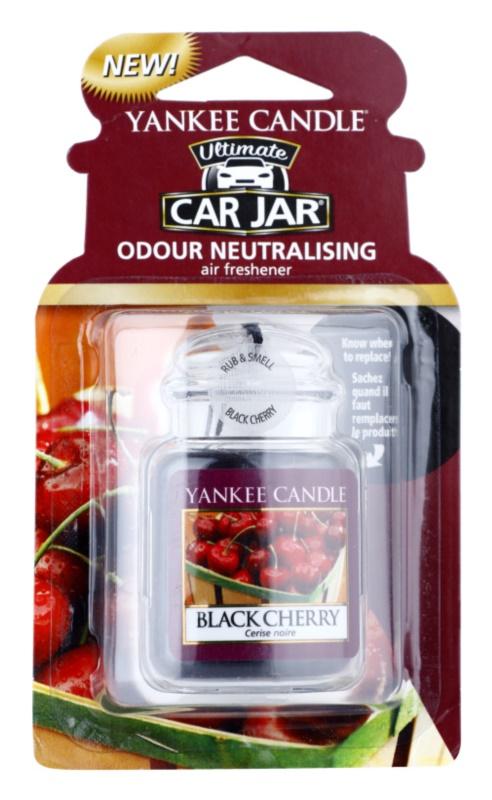 Yankee Candle Black Cherry vůně do auta   závěsná