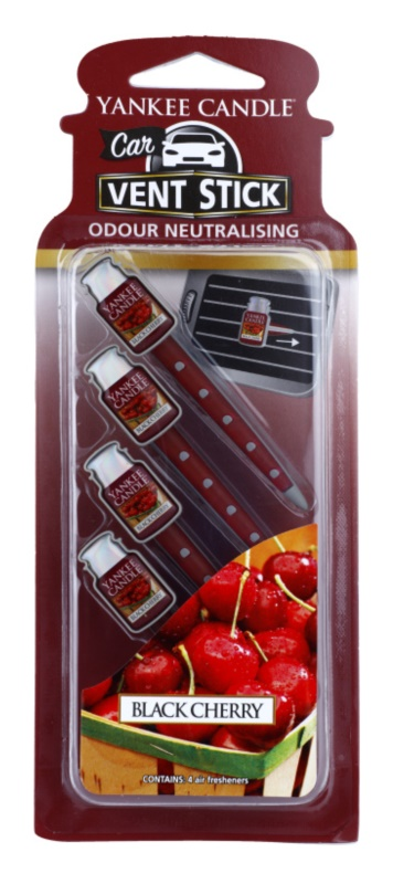 Yankee Candle Black Cherry aроматизатор за автомобил 4 бр.