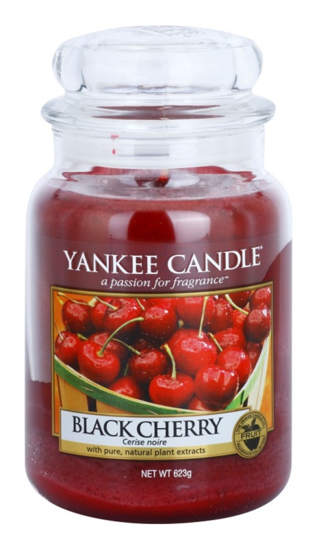 Yankee Candle Black Cherry Duftkerze  623 g Classic groß