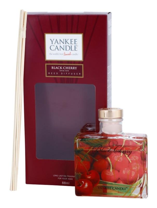 Yankee Candle Black Cherry aроматизиращ дифузер с пълнител 88 мл. Signature