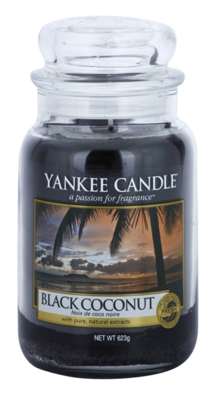 Yankee Candle Black Coconut lumânare parfumată  623 g Clasic mare