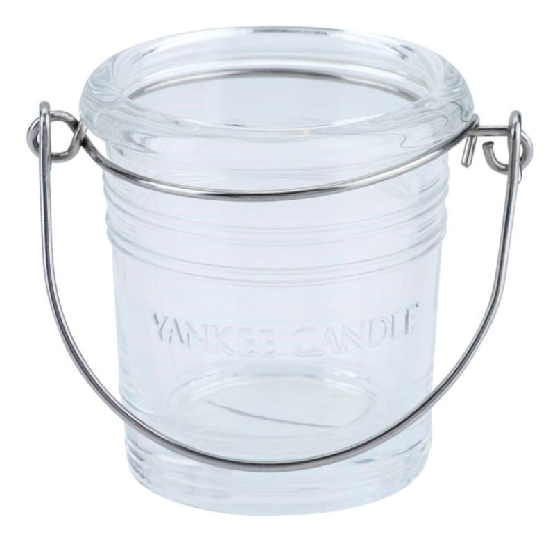 Yankee Candle Glass Bucket szklany świecznik na sampler