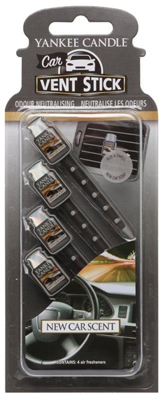 Yankee Candle New Car Scent Auto luchtverfrisser  4 st