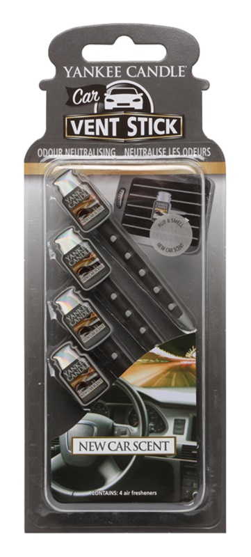 Yankee Candle New Car Scent Car Air Freshener 4 pc