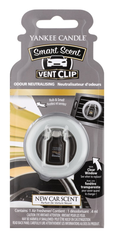 Yankee Candle New Car Scent Car Air Freshener 4 ml Clip