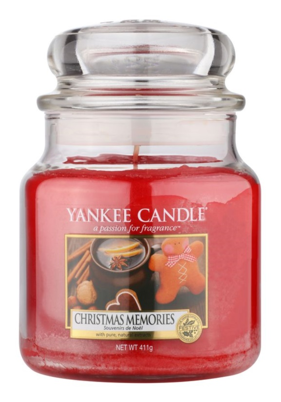 Yankee Candle Christmas Memories vela perfumado 411 g Classic médio