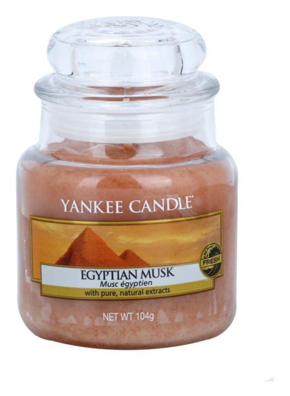 Yankee Candle Egyptian Musk dišeča sveča  104 g Classic majhna