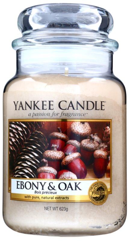 Yankee Candle Ebony & Oak vonná svíčka 623 g Classic velká