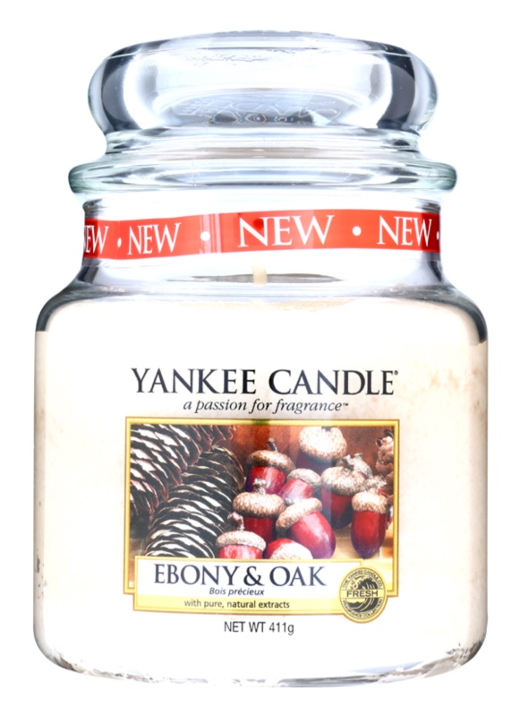 Yankee Candle Ebony & Oak Scented Candle 411 g Classic Medium