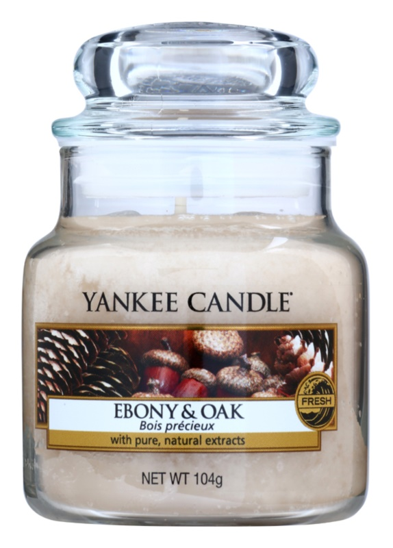 Yankee Candle Ebony & Oak świeczka zapachowa  104 g Classic mała