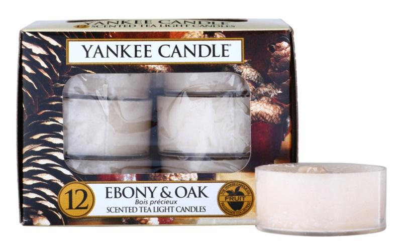 Yankee Candle Ebony & Oak świeczka typu tealight 12 x 9,8 g