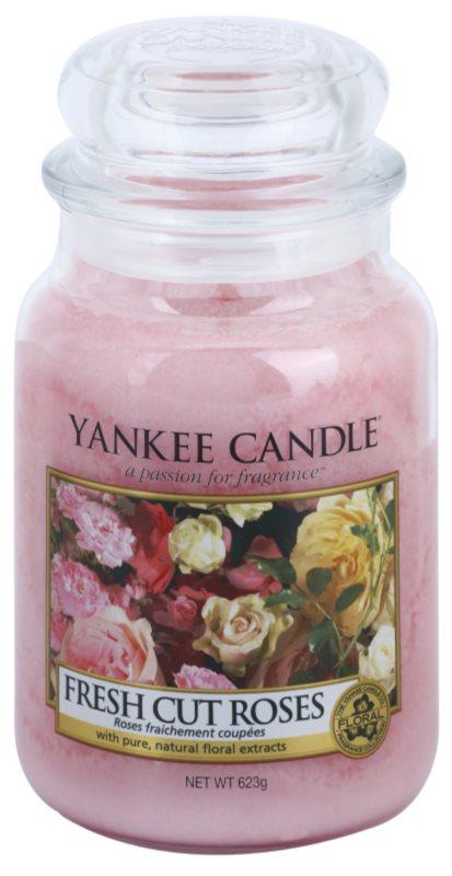 Yankee Candle Fresh Cut Roses świeczka zapachowa  623 g Classic duża