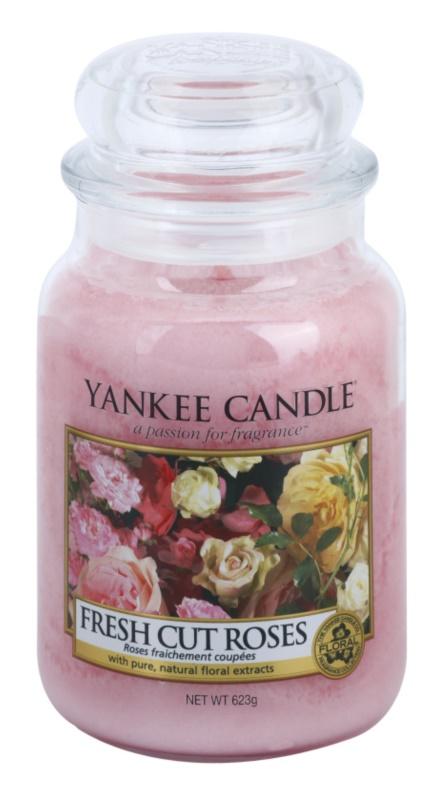 Yankee Candle Fresh Cut Roses vonná sviečka 623 g Classic veľká