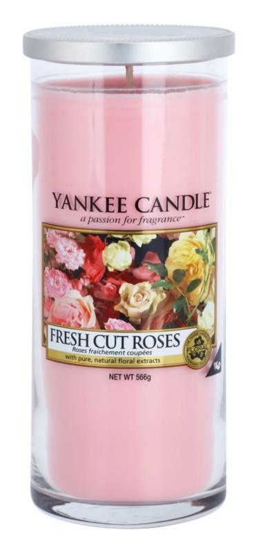 Yankee Candle Fresh Cut Roses vela perfumado 566 g Décor grande