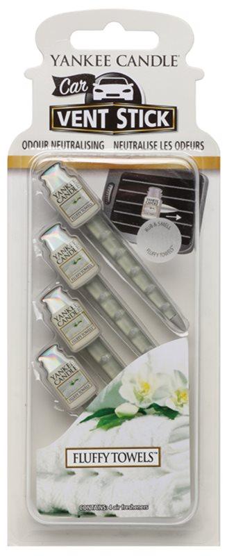 Yankee Candle Fluffy Towels Car Air Freshener 4 pc