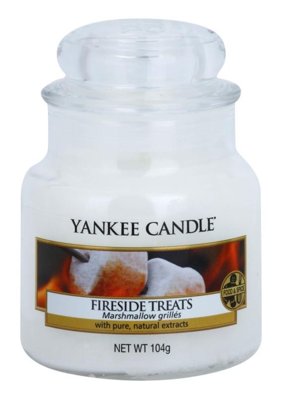Yankee Candle Fireside Treats candela profumata 104 g Classic piccola