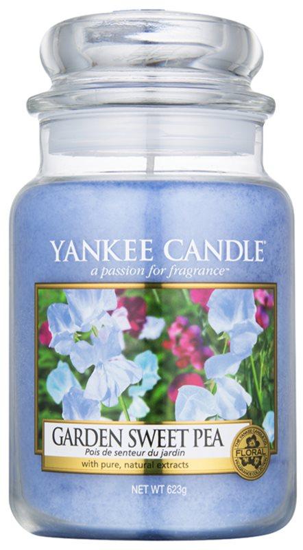 Yankee Candle Garden Sweet Pea vonná svíčka 623 g Classic velká