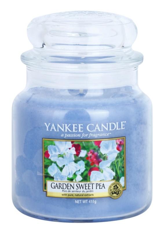 Yankee Candle Garden Sweet Pea vela perfumado 411 g Classic médio