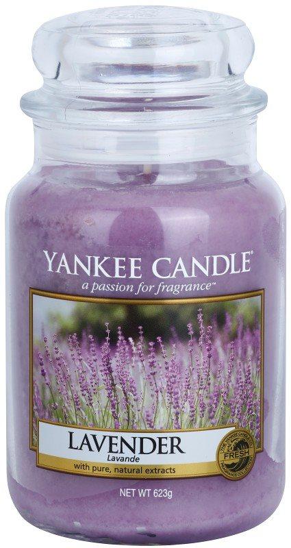 Yankee Candle Lavender candela profumata 623 g Classic grande