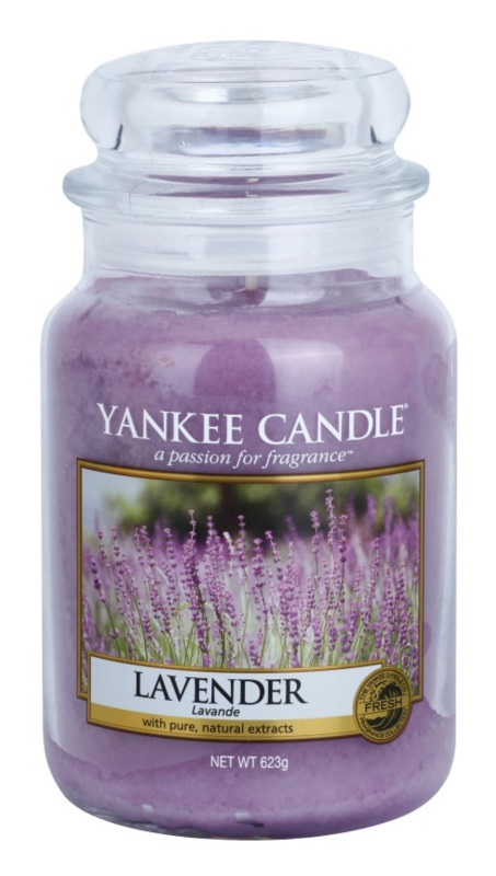 Yankee Candle Lavender vela perfumado 623 g Classic grande