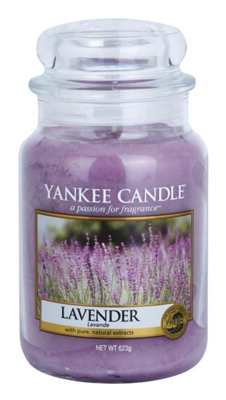 Yankee Candle Lavender vonná sviečka 623 g Classic veľká