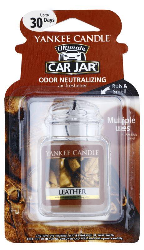 Yankee Candle Leather vôňa do auta   závesná
