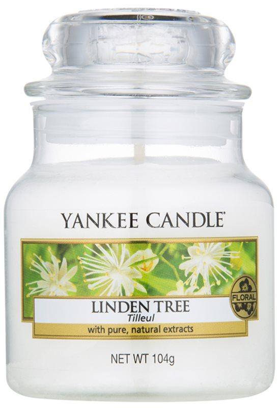 Yankee Candle Linden Tree vela perfumado 104 g Classic pequeno