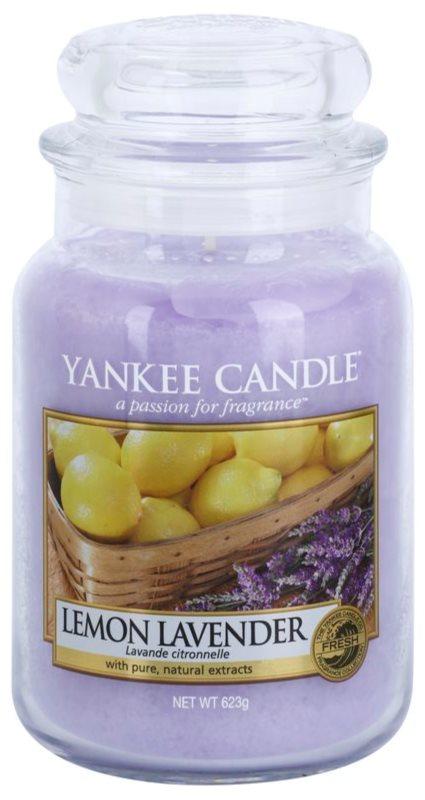 Yankee Candle Lemon Lavender ароматна свещ  623 гр. Classic голяма