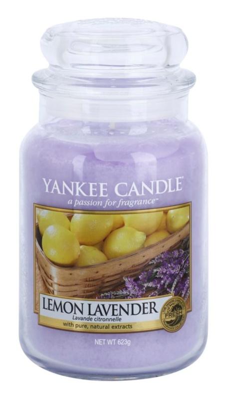 Yankee Candle Lemon Lavender dišeča sveča  623 g Classic velika