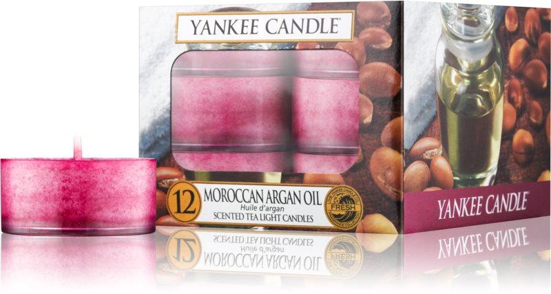 Yankee Candle Moroccan Argan Oil čajová sviečka 12 x 9,8 g