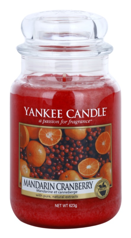 Yankee Candle Mandarin Cranberry Geurkaars 623 gr Classic Large