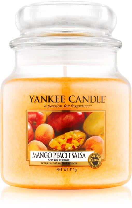 Yankee Candle Mango Peach Salsa illatos gyertya  411 g Classic közepes méret