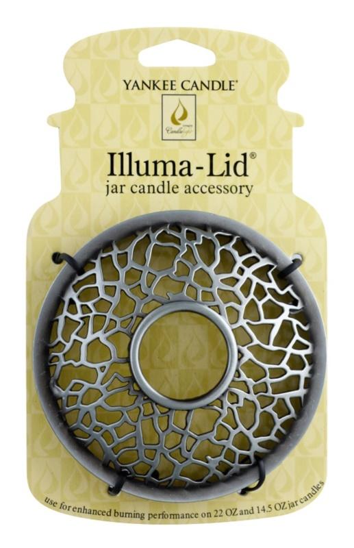 Yankee Candle Matrix Brushed couvercle décoratif   pour bougie parfumée Classic format grand et moyen (Silver)