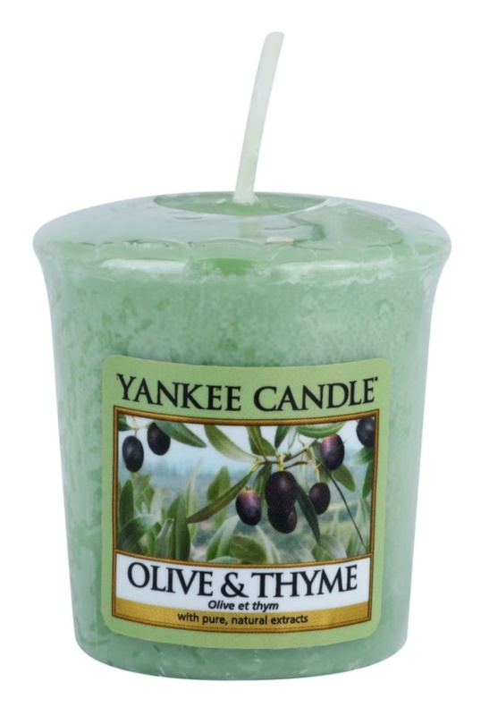 Yankee Candle Olive & Thyme votívna sviečka 49 g