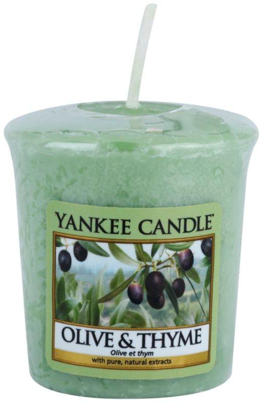 Yankee Candle Olive & Thyme votivní svíčka 49 g