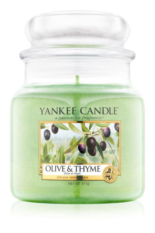 Yankee Candle Olive & Thyme vela perfumada  411 g Classic mediana