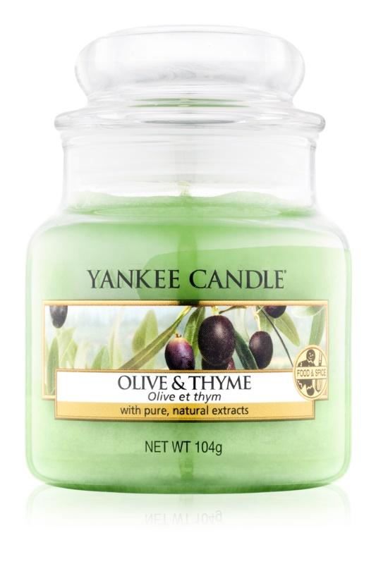 Yankee Candle Olive & Thyme illatos gyertya  104 g Classic kis méret
