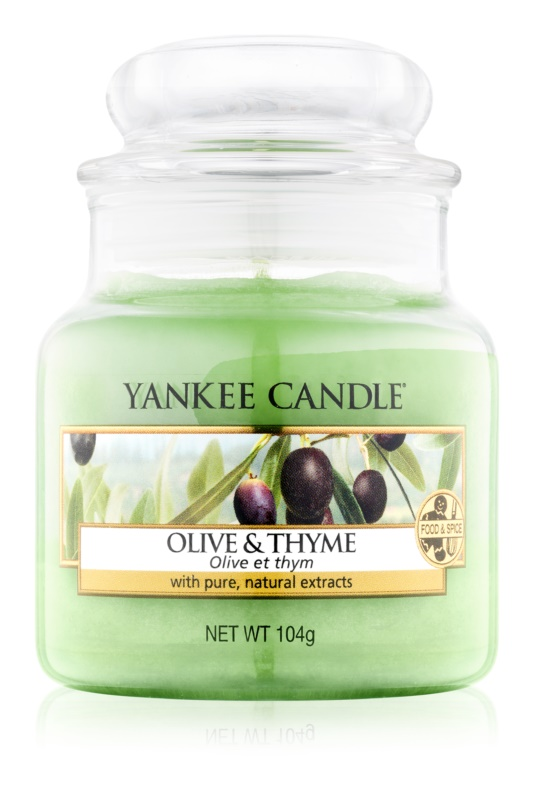 Yankee Candle Olive & Thyme vela perfumada  104 g Classic pequeña