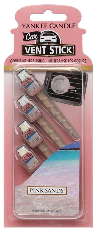 Yankee Candle Pink Sands Auto luchtverfrisser  4 st