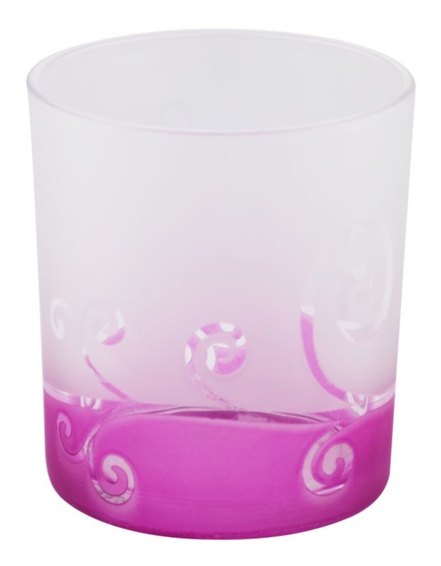Yankee Candle Purple Scroll Glass Votive Candle Holder
