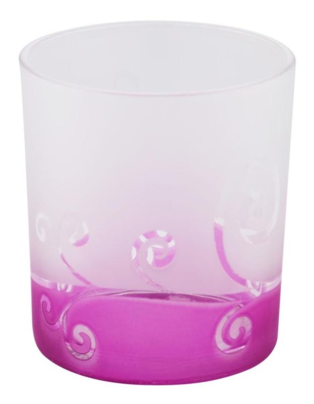 Yankee Candle Purple Scroll szklany świecznik na sampler